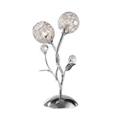 Portia Table Lamp in Polished Chrome and Crystal - PAUL NEUHAUS 4084-17